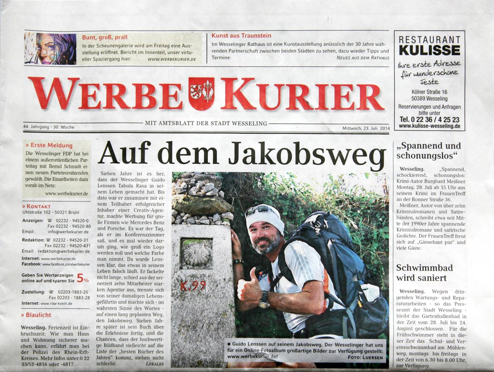 Wesselinger Werbekurier interviewt Autor